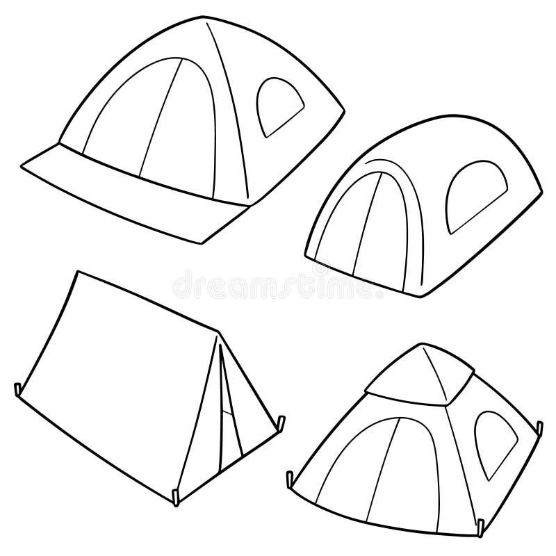 Vectorreeks van tent stock illustratie