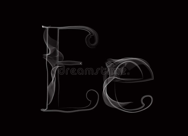 Vectorrook of Haze Letter Font Type, twee brieven royalty-vrije illustratie