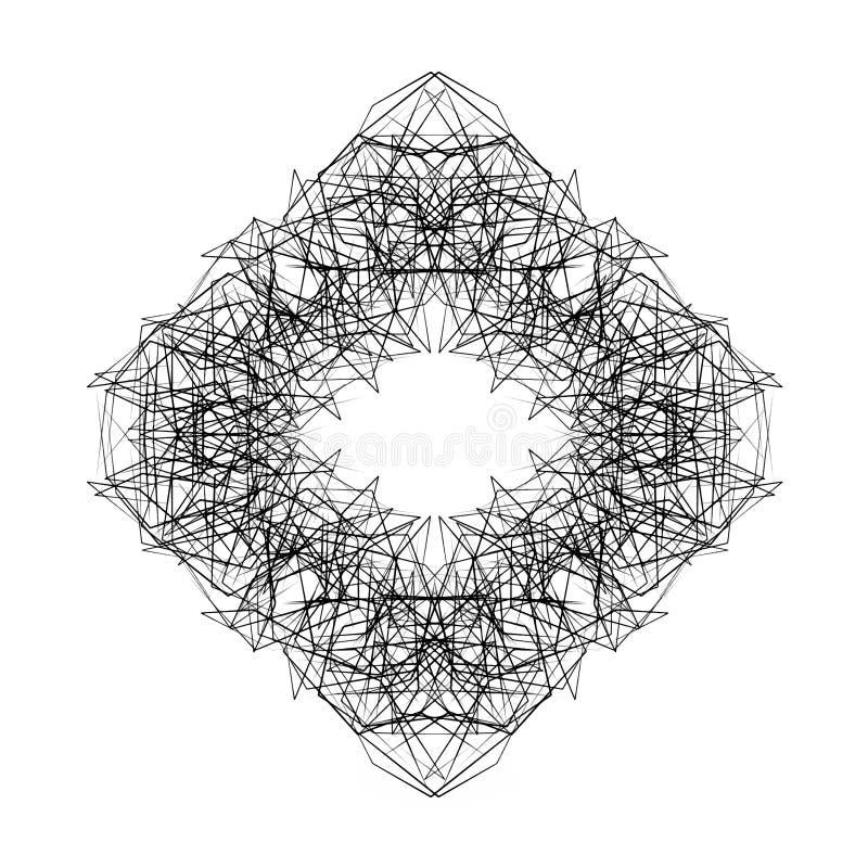 Vectorruit De abstracte vorm van de grungebal, kwaststreken, gekrabbel Universeel ontwerp, decorelement stock illustratie