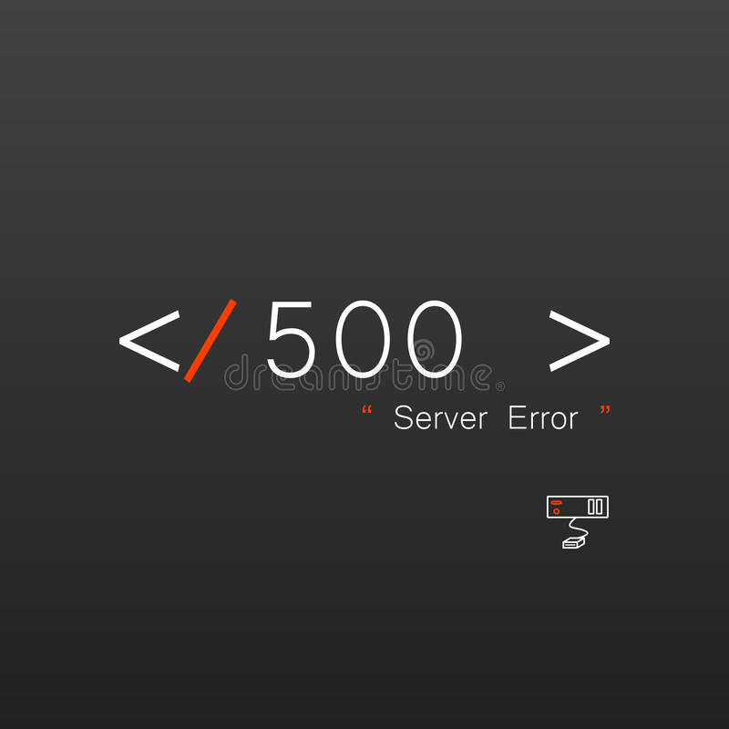Vectors Abstract background 500 connection error server royalty free illustration