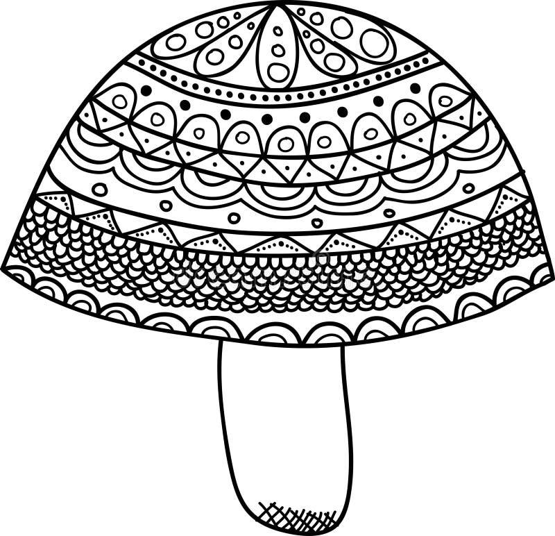 Vectors Abstract Mushroom. Vector abstract mushroom doodle texture royalty free illustration