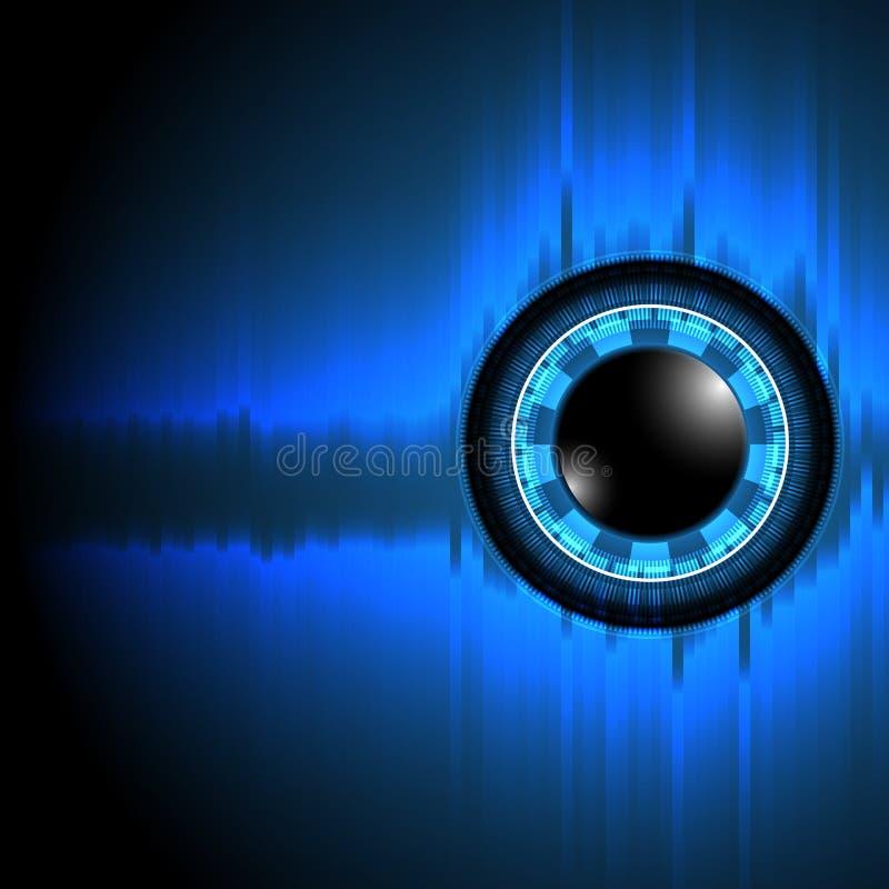 Vectors background abstract technology eye stock illustration