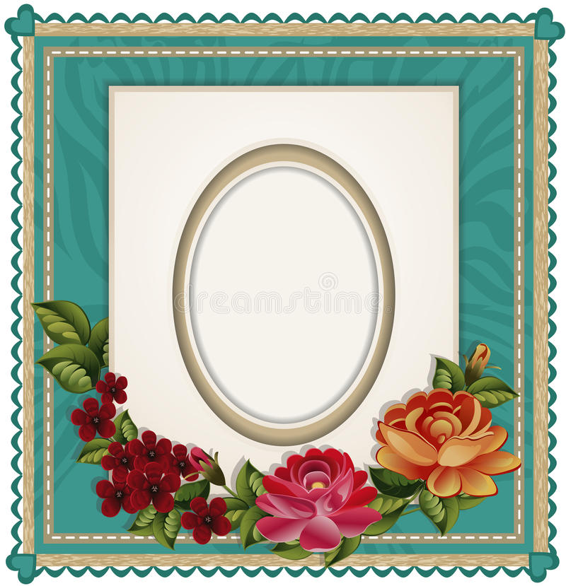 Download Vectors Of The Background With An Oval Frame Stock Vector - Image: 19789219