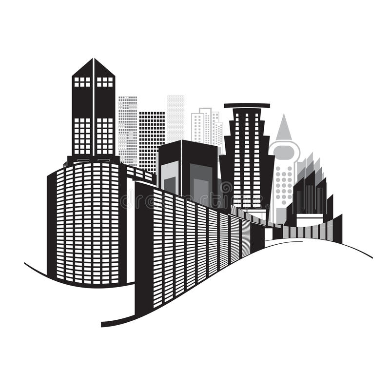Vectors Building Black And White On White Background Stock Vector - Illustration of graphic ...
