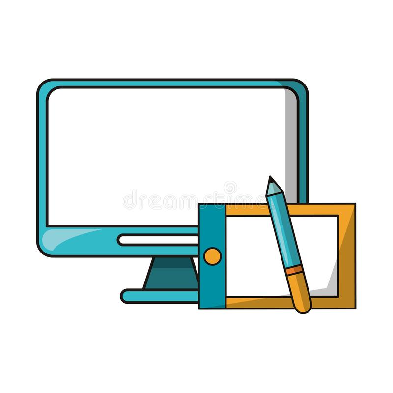 Vectors and graphic design digital tools royalty free illustration