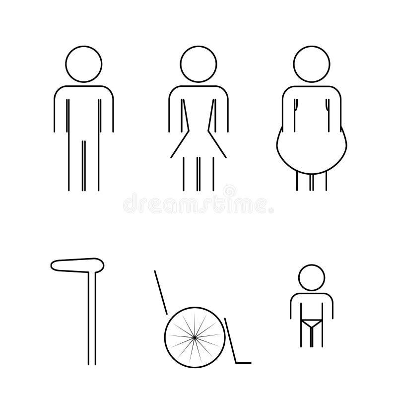 Vectors icon toilet symbol signs vector illustration
