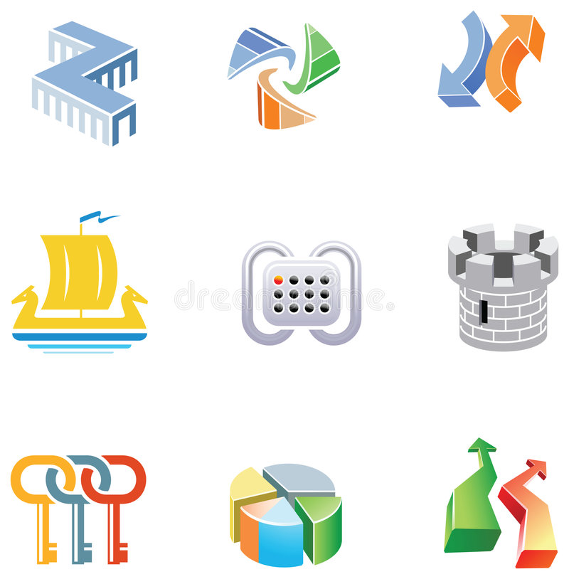 Download Vectors Kit For Logo Development Stock Vector - Illustration of development, outlines: 7871212