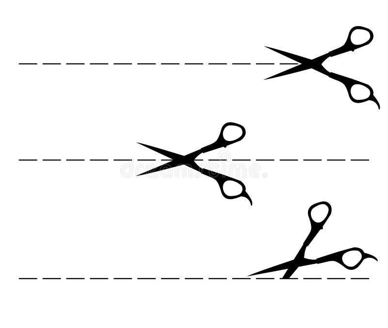 Vectorschaarlijn stock illustratie