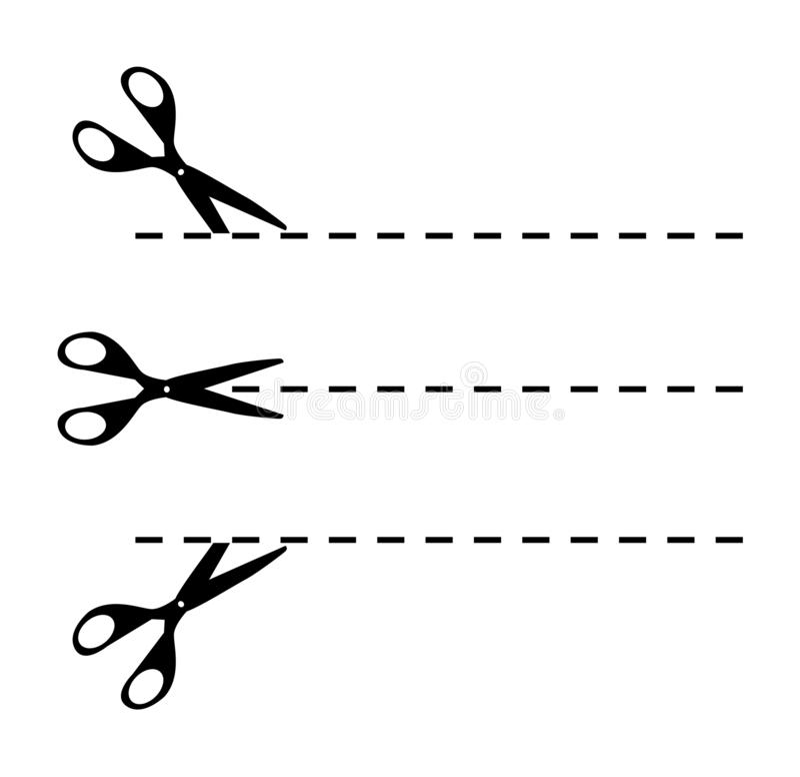 Vectorschaarlijn vector illustratie