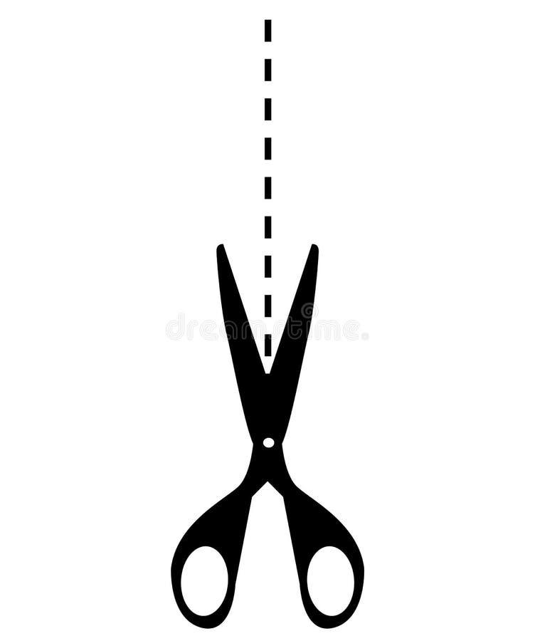 Vectorschaarlijn royalty-vrije illustratie