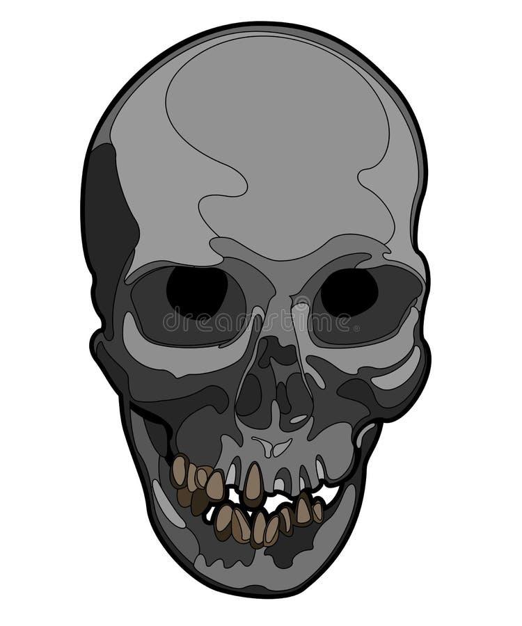Vectorschedelkunstwerk stock illustratie