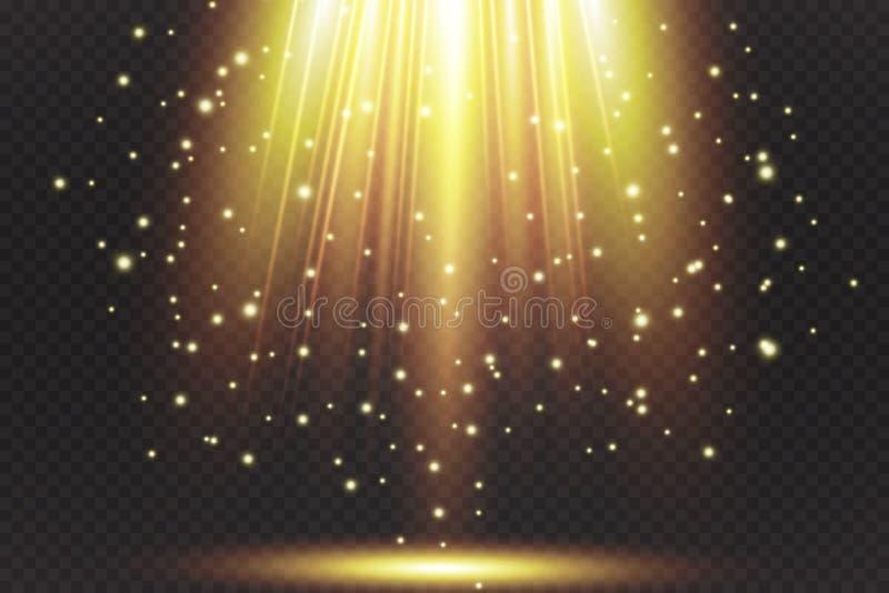 Vectorschijnwerper Lichteffect royalty-vrije illustratie
