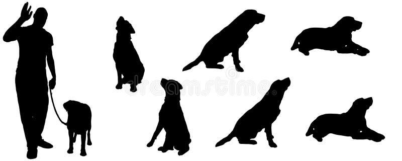 Vectorsilhouet van een hond stock illustratie