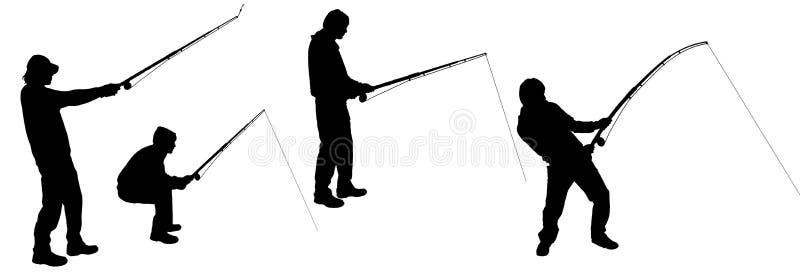 Vectorsilhouet van een mens vector illustratie
