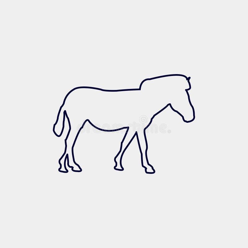 Vectorsilhouet van een paard op een witte achtergrond vector illustratie
