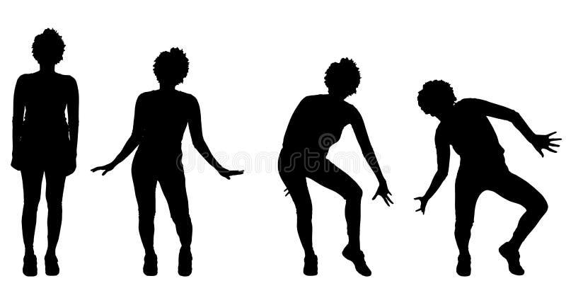 Vectorsilhouet van een vrouw vector illustratie