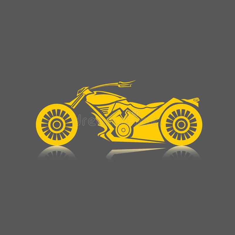Download Vectorsilhouet Van Klassieke Motorfiets. Motopictogram Stock Illustratie - Illustratie bestaande uit verzameling, motorfiets: 39100317