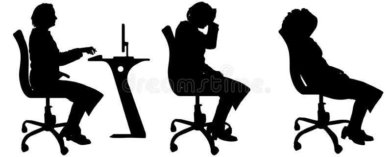 Vectorsilhouetten van vrouwen stock illustratie