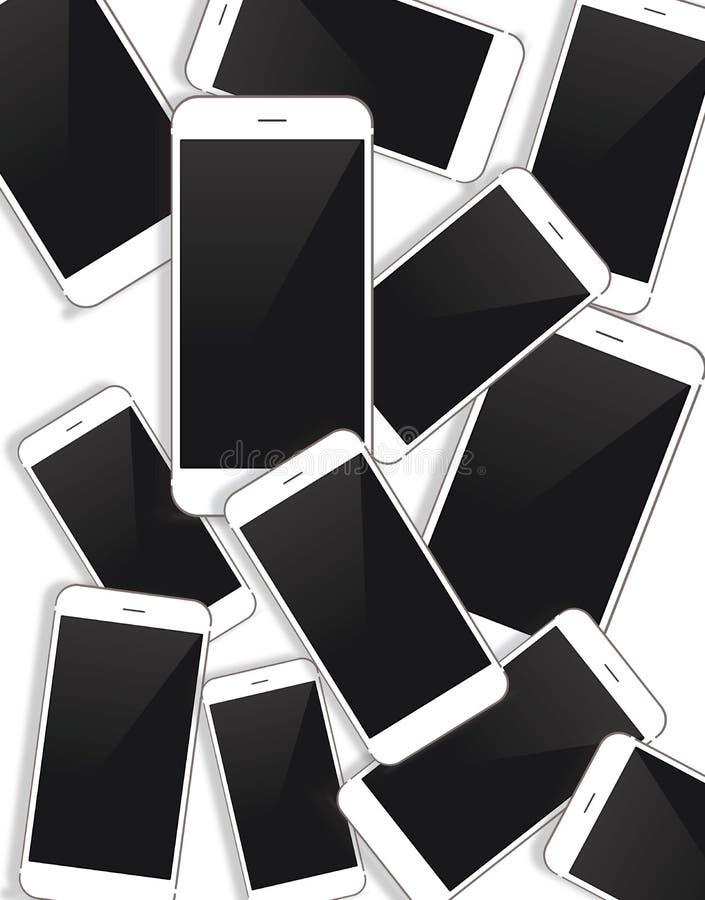 Download Vectorsmartphoneachtergrond Stock Illustratie - Illustratie bestaande uit cellulair, tarief: 54079036
