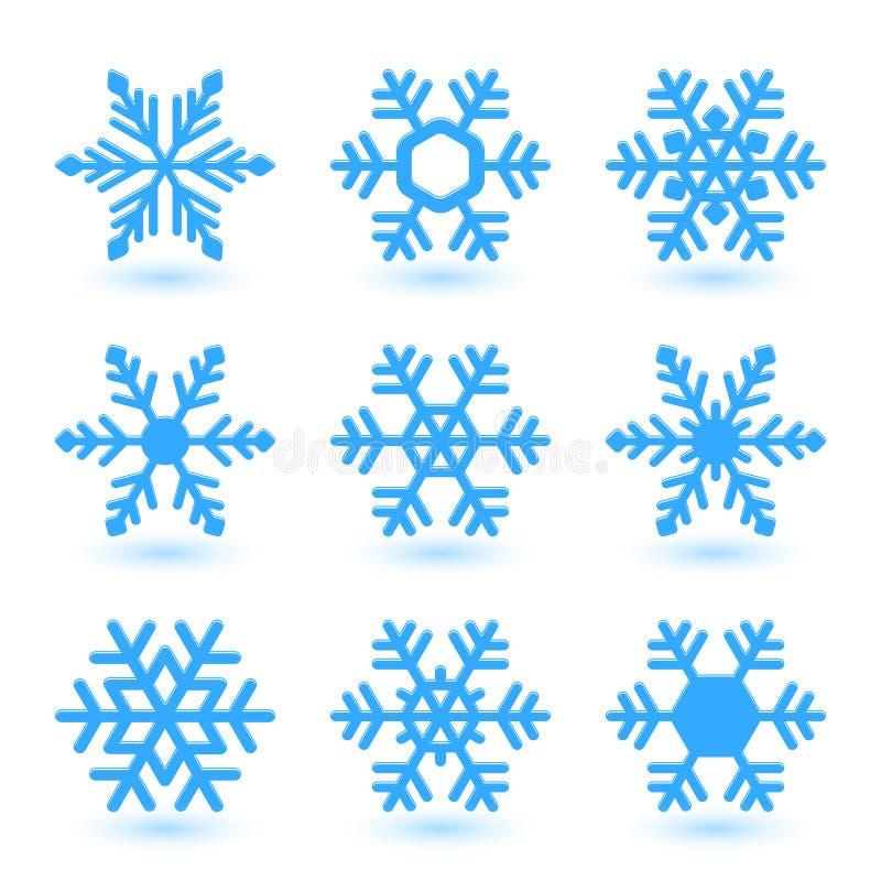 Vectorsneeuwvlokken. stock illustratie