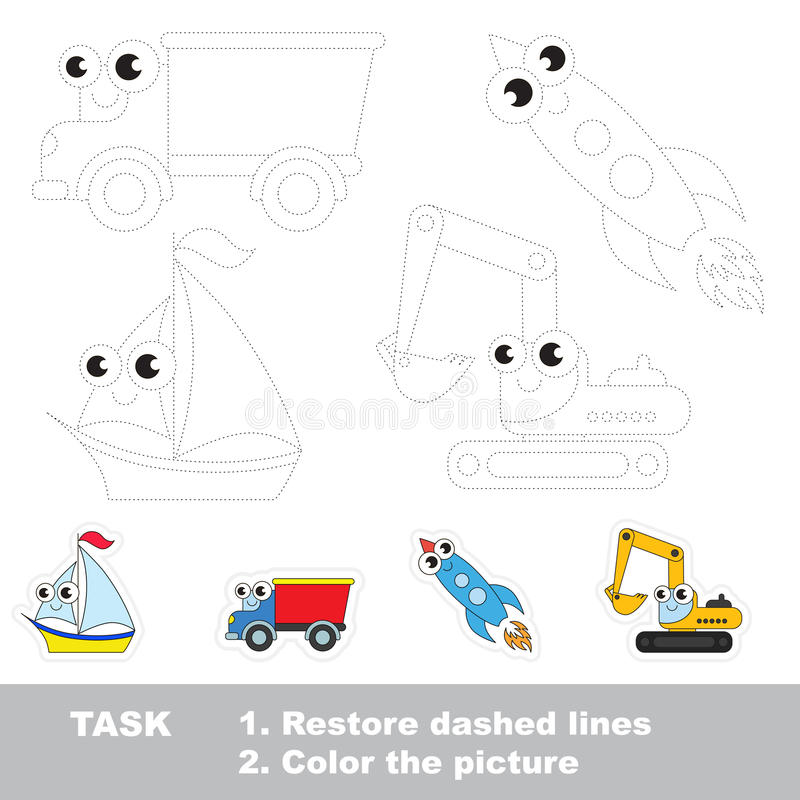 Vectorspoor onderwijsspel voor peuterjonge geitjes vector illustratie
