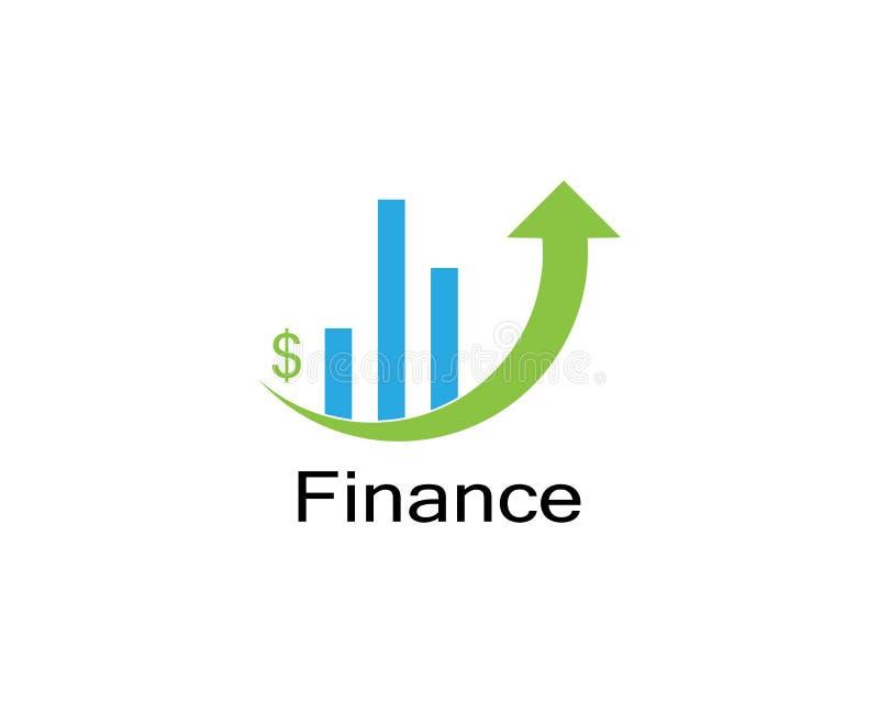 Vectorstaafdiagramillustratie, bedrijfsgrafiek het diagram van de gegevensgroei stock illustratie