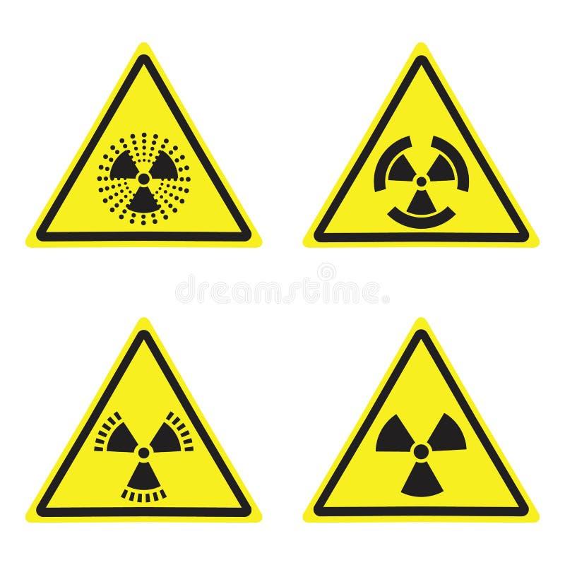 Vectorstralingsteken die gele raad waarschuwen vector illustratie
