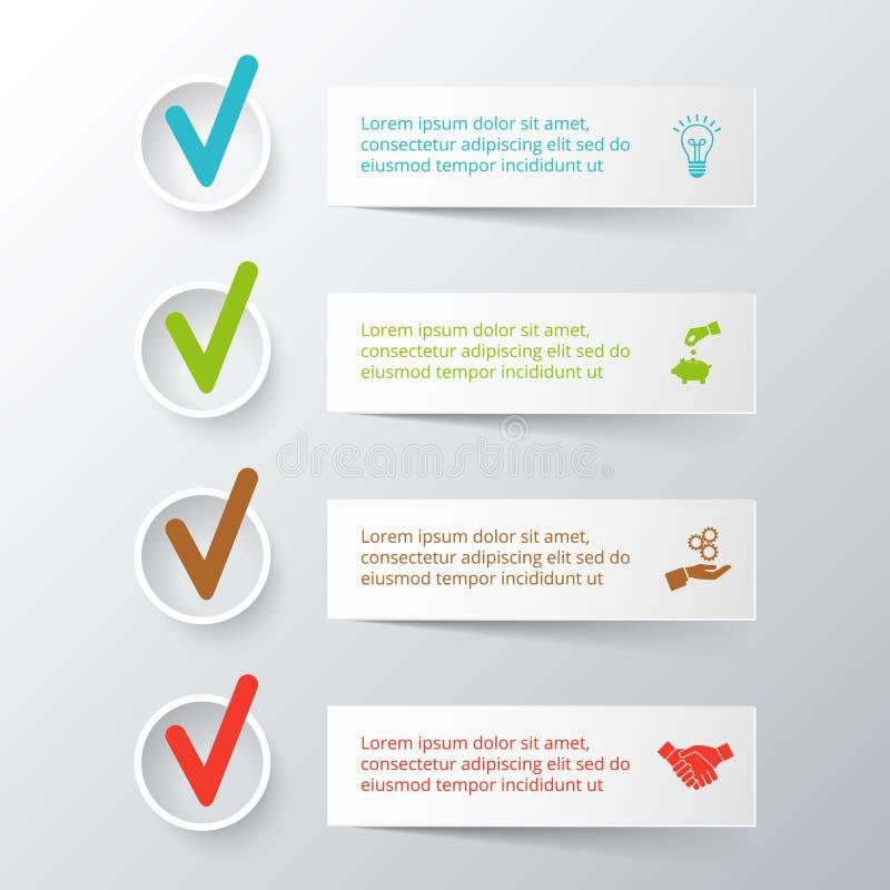 Vectorstrepen voor infographic vector illustratie