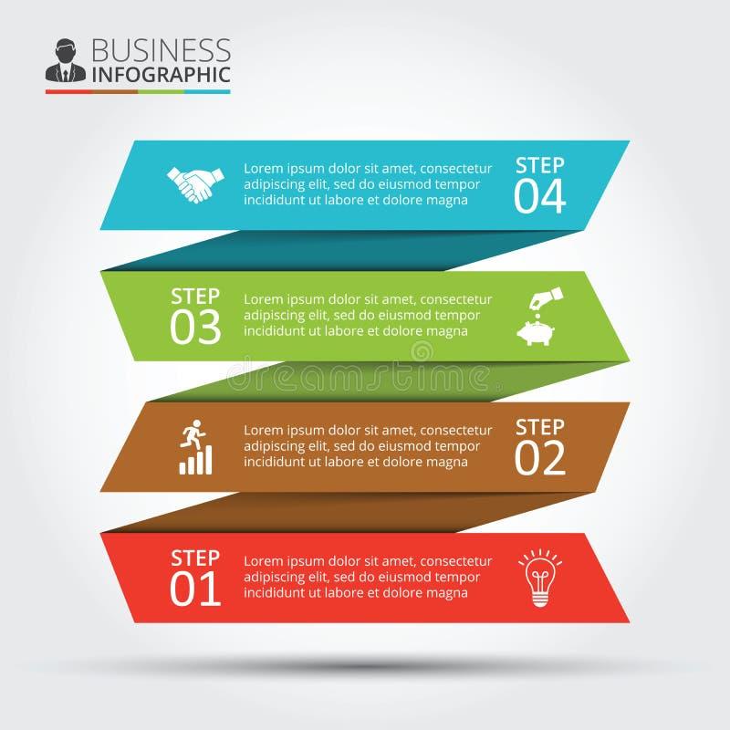 Vectorstrepen voor infographic stock illustratie