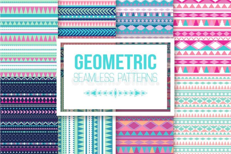 Vectorstrepenpatroon Stammen naadloze textuur Uitstekende etnische naadloze achtergrond vector illustratie