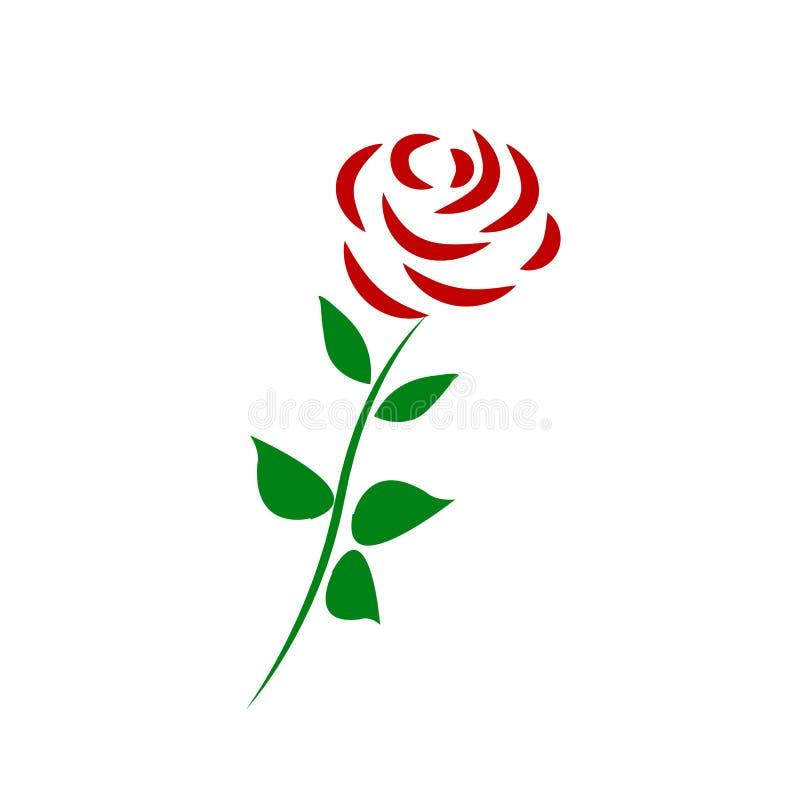 Vectortak van rode die rozen op een witte achtergrond worden ge?soleerd stock illustratie