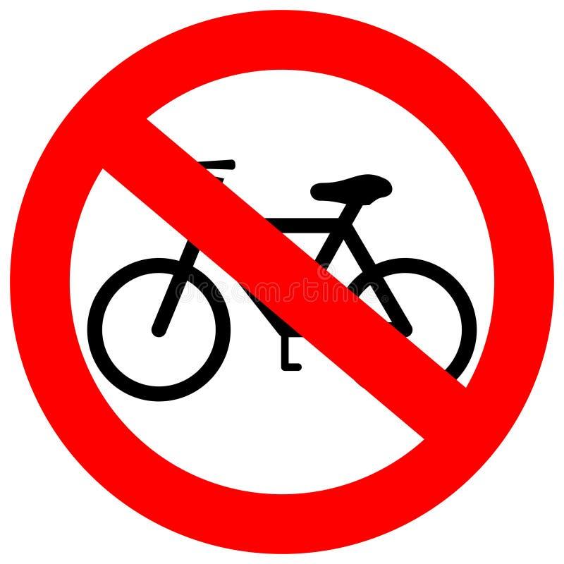 Vectorteken geen fiets stock illustratie