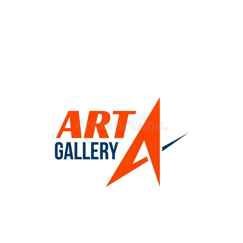 Vectorteken voor kunstgalerie stock illustratie