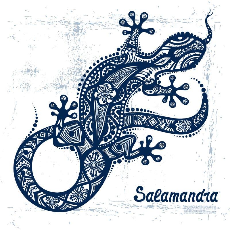 Vectortekening van een hagedis of een salamander vector illustratie