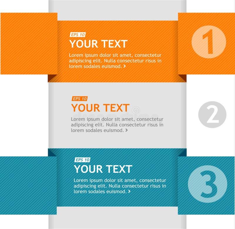 Vectortekstvakjes, de banner van infographicsopties stock illustratie
