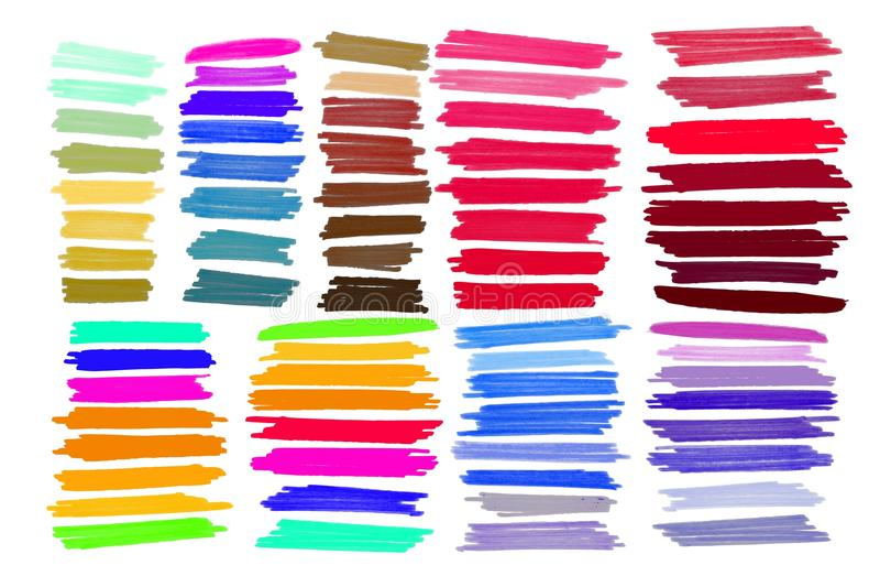 Vectortellersslag, vlekken heldere kleur vector illustratie