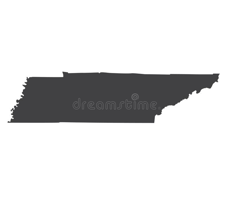 Vectortennessee map-silhouet stock illustratie