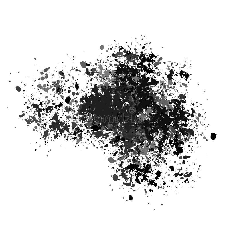 Vectortextuur, veel scherven van verschillende grootte Vlek, verfplonsen of krijtjes vector illustratie