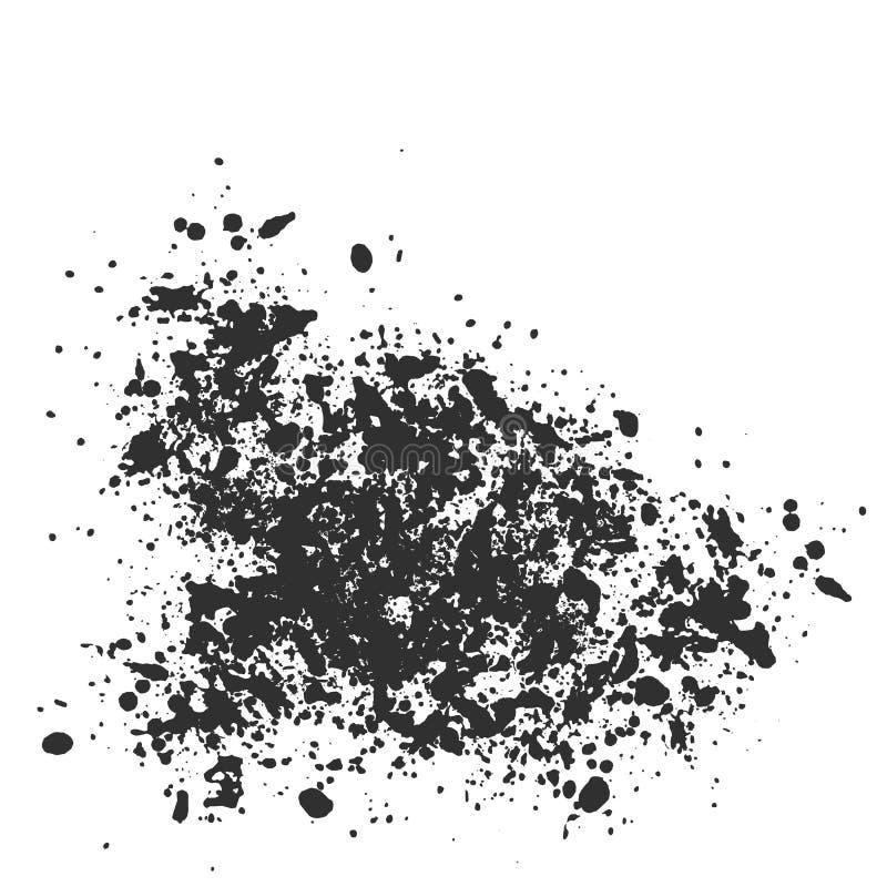 Vectortextuur, veel scherven van verschillende grootte Vlek, verfplonsen of krijtjes stock illustratie