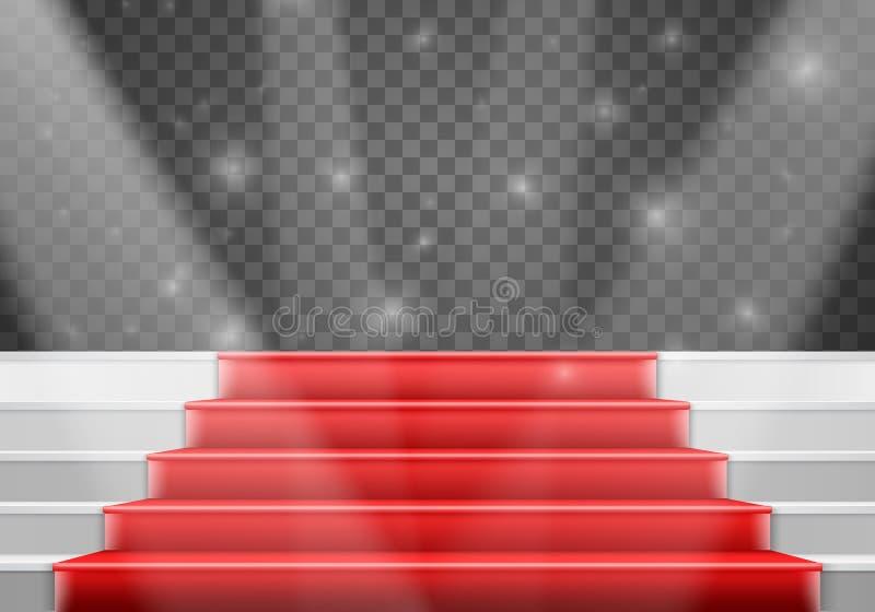 Vectortredenmalplaatje 3D Realistische Vectortreden van het Winnaarstadium royalty-vrije illustratie