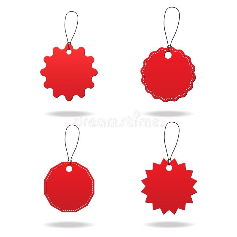 Vectorverkoopmarkeringen/Etiketten royalty-vrije illustratie