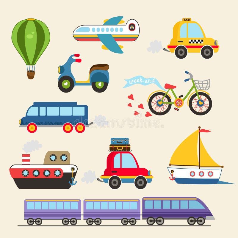 Vectorvervoerreeks stock illustratie