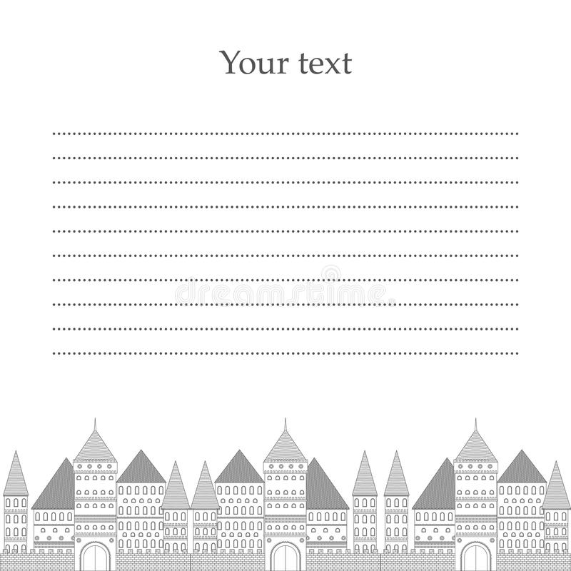 Vectorvilla Plaats voor uw tekst stock illustratie