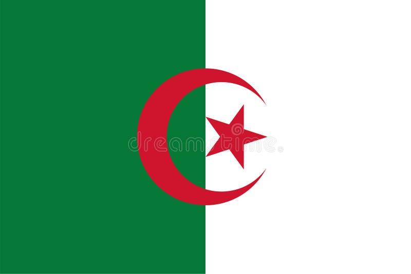 Vectorvlag van Algerije Aandeel2:3 Algerijnse nationale vlag Mensen` s Democratische Republiek Algerije stock illustratie