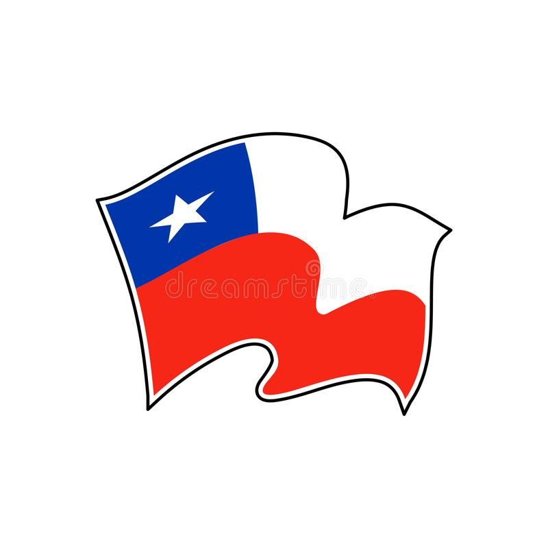 Vectorvlag van Chili royalty-vrije illustratie