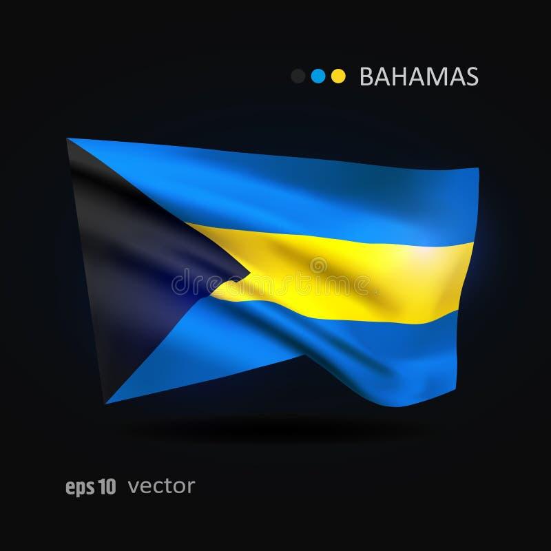Vectorvlag van de Bahamas vector illustratie