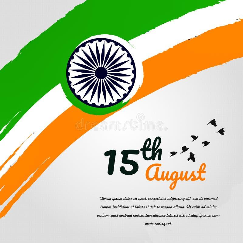 Vectorvlag van India in de stijl van waterverfverven met een patroon vector illustratie