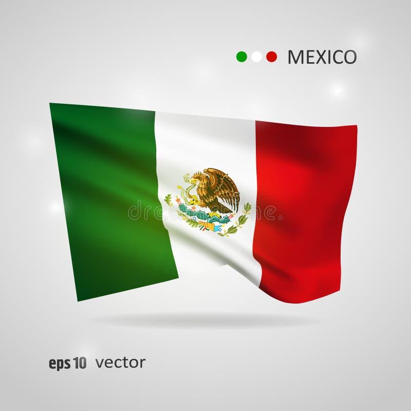 Vectorvlag van Mexico vector illustratie