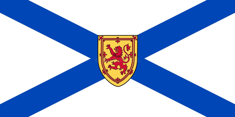 Vectorvlag van Nova Scotia-provincie Canada Halifax, Kaap Breton stock illustratie