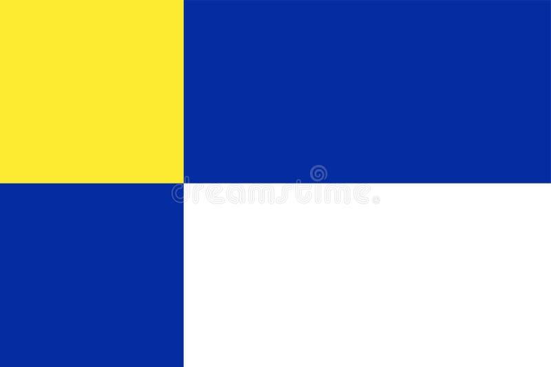 Vectorvlaggen van Gebieden de vlag van van Slowakije, het Gebied van Bratislava royalty-vrije illustratie